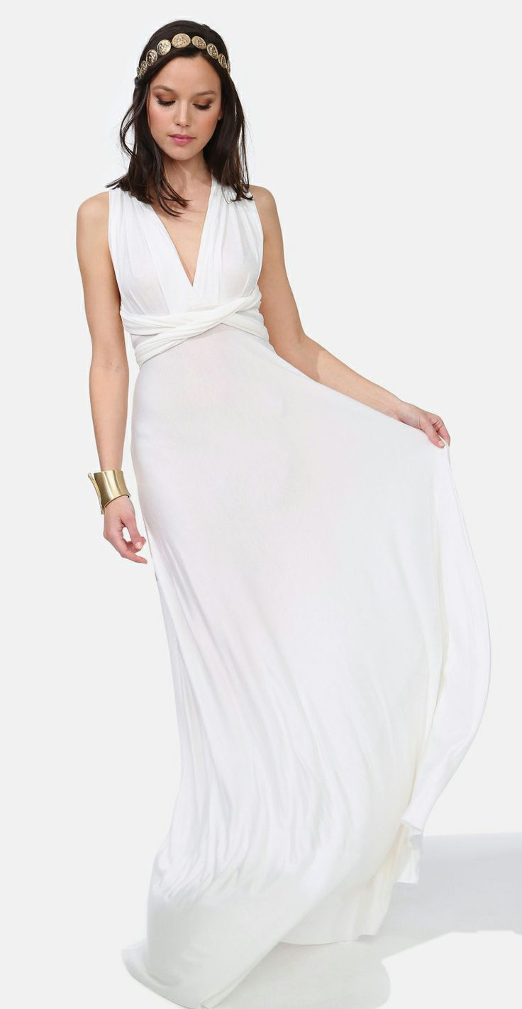 Casual flowy white dress fashion style 2015 - Lovely Maxi Dress White Flowy