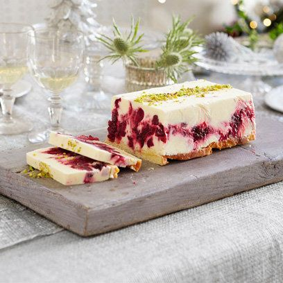 Heston Blumenthal's cranberry and limoncello semifreddo.