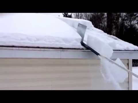 Snow Shredder Roof Cleaner Youtube Piece Of Sheet Metal