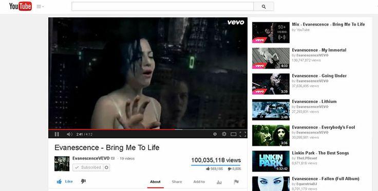 Bring Me to Life with 100 million views on YouTube!   ...   دومین ویدیوی اونسنس با 100 میلیون بازدید در یوتیوب!