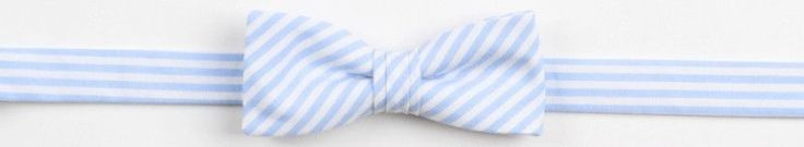 Boy's Bow Tie in Soft Carolina Blue Stripe by High Cotton