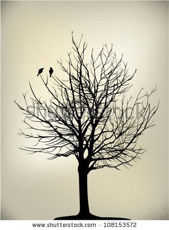 i love tree silhouettes