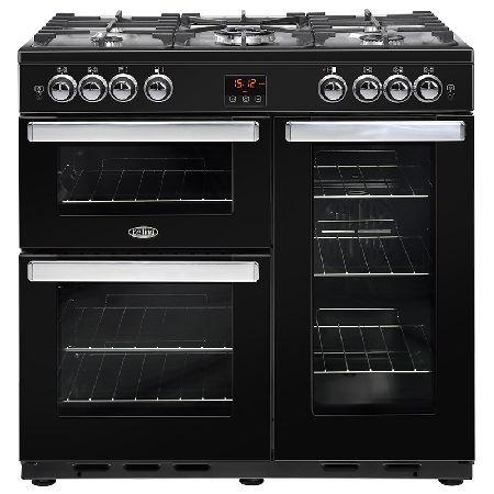Belling COOKCENTRE 90G BLACK 900mm Dual Fuel Range Cooker 5 Burners Inc WOK Black http://www.MightGet.com/january-2017-13/belling-cookcentre-90g-black.asp