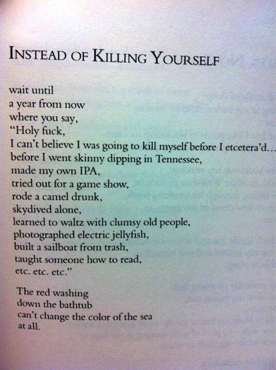 things to do before you kill yourself