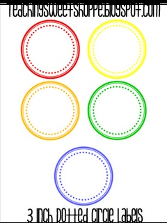 3 inch dotted circle labels