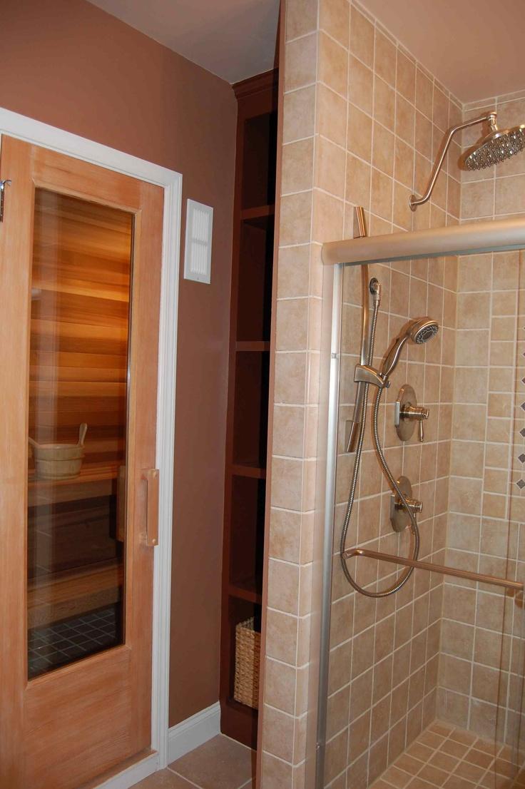 A Sauna And Cabin Shower In The Basement