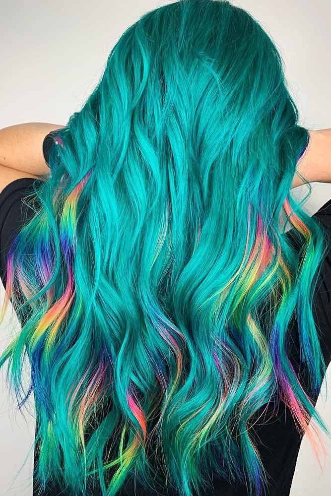 30 Inspiring Teal Hair Ideas To Stand Out In The Crowd Lovehairstyles Teal Hair Color Teal Hair Blue Ombre Hair