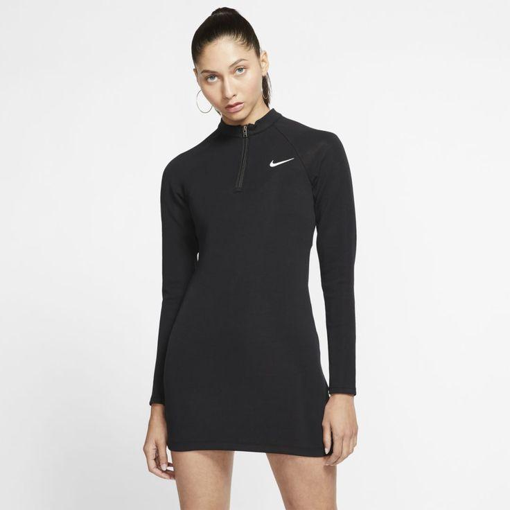 Feb 11, 2020 - Nike Sportswear Womens Long-Sleeve Dress (Black)