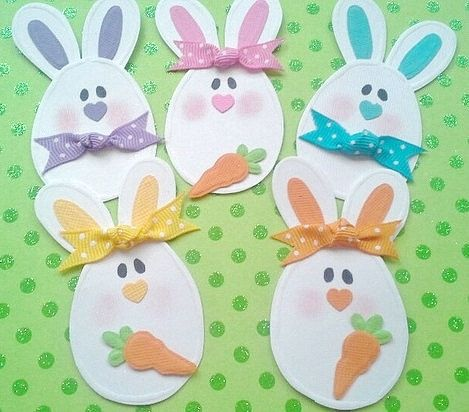 Easter Egg Bunny Embellishments Easter by chucklesandcharms