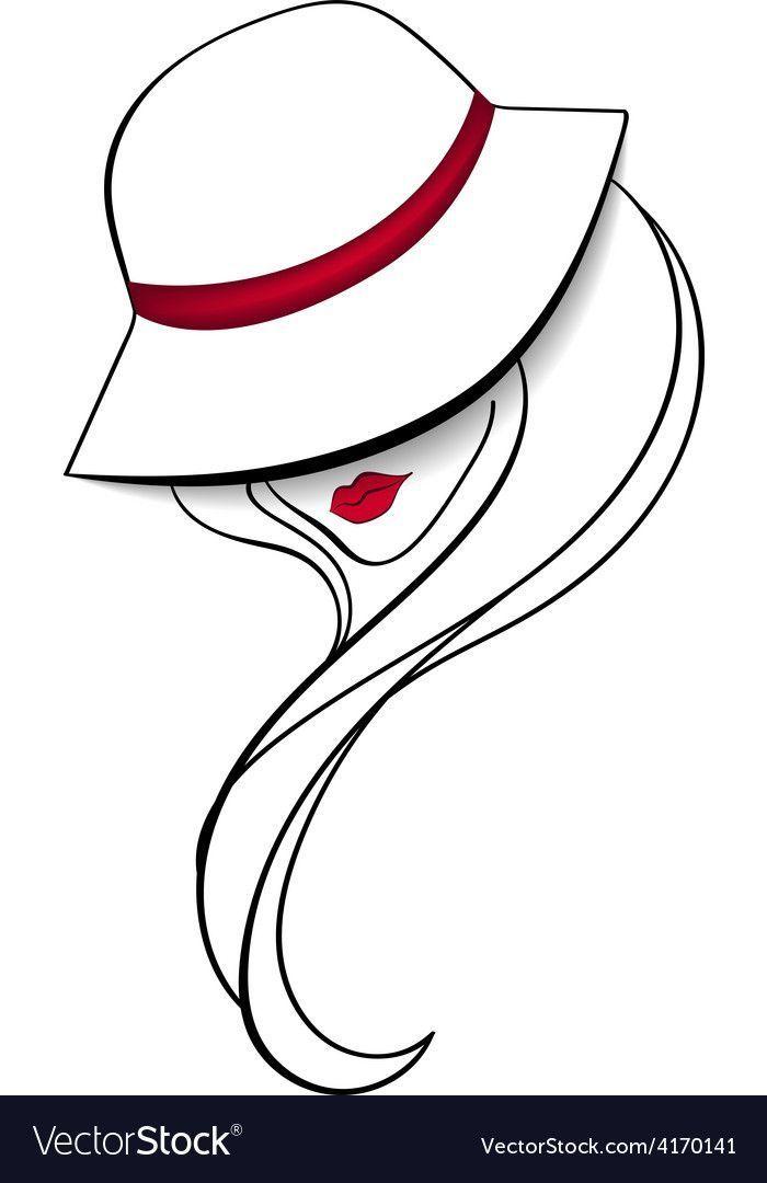 Frauen in einem Vintage-Hut-Vektor-Bild auf – #bac…