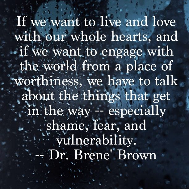 Quick Quote #1 -- Considering the content of my last three posts, coming across these words in Dr. Brene' Brown's book, The Gifts of Imperfection couldn't be more timely.