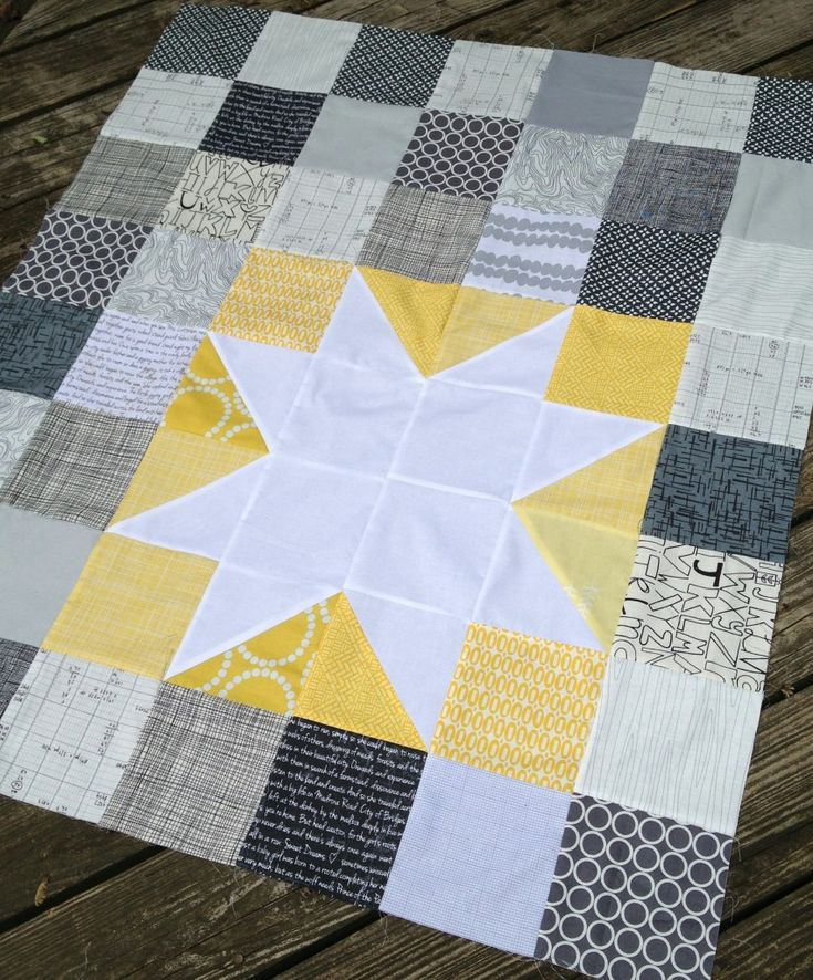 Star Bright Quilt SwimBikeQuilt 850x1024 Favorite Things: Star Bright Baby Quilt
