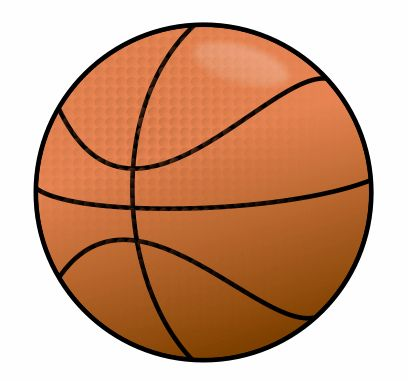Challenging cartoon basketball that requires a vector software to be drawn.
