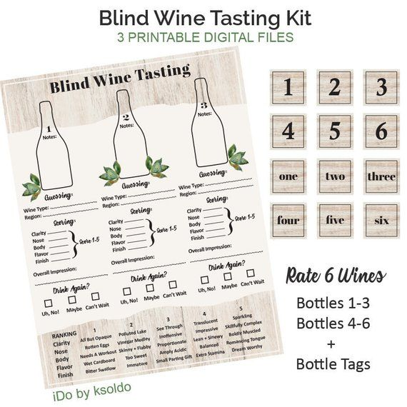 photograph regarding Wine Tasting Sheets Printable called Blind Wine Tasting Position Sheets - Wine Tasting Celebration - Wine