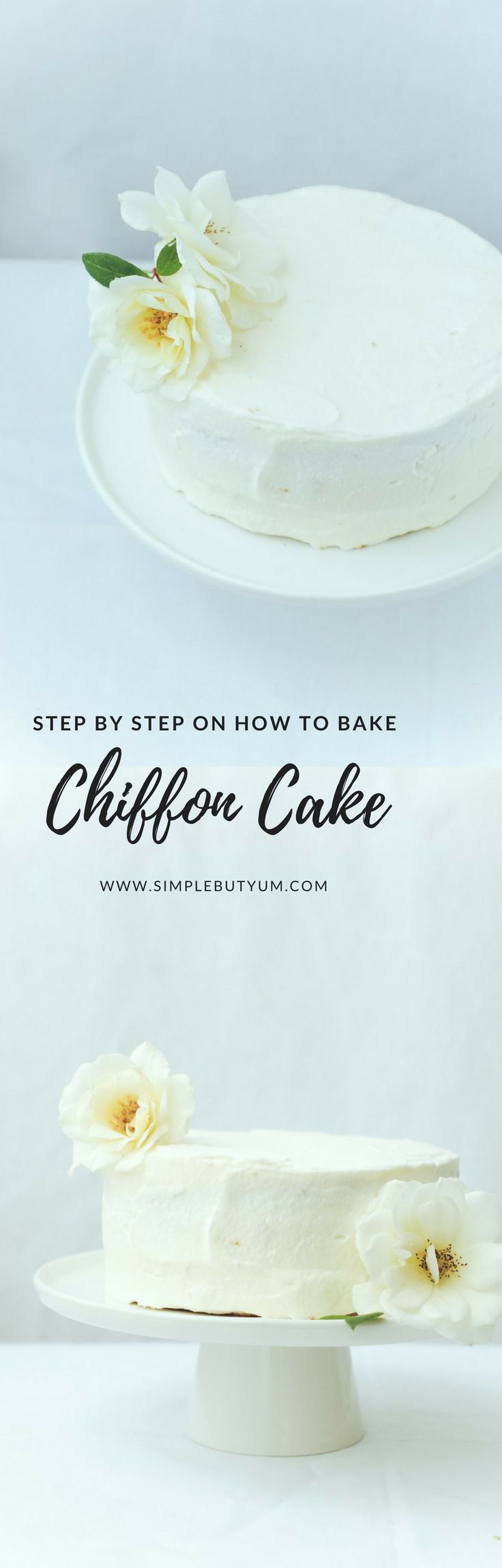 Step by step guide on how to bake a perfect chiffon cake with a regular cake baking pan. Chiffon cake is the base for ot…