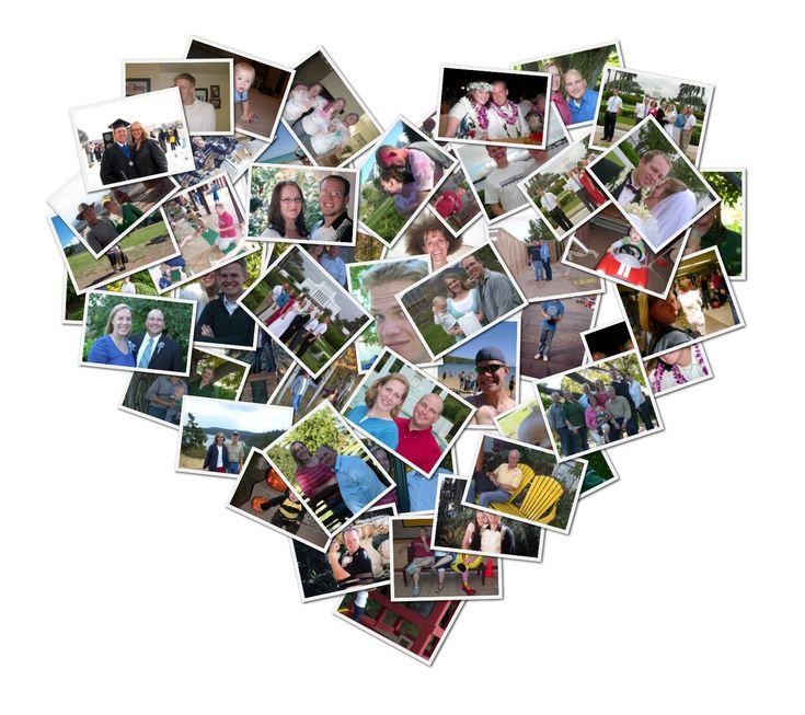 heart shaped collage on Grandma Ideas dot com