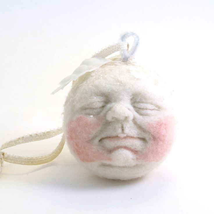 sculpted, spun cotton baby face from Vintage by Crystal