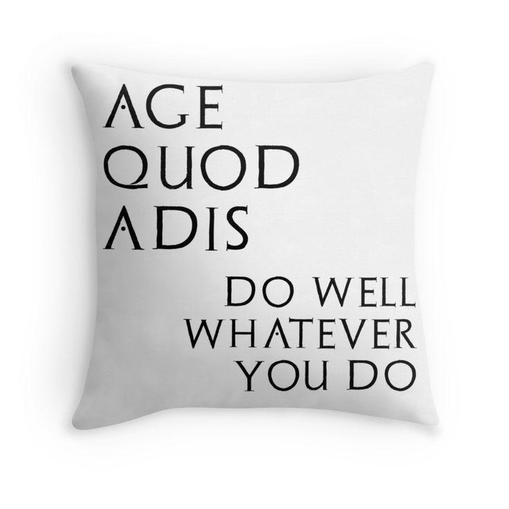 Age quod adis