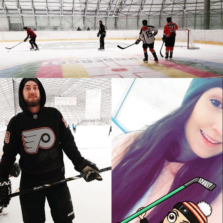 Back on the ice! Sesongåpning på arena Nordvest:) #icehockey #hockey #winter #philadelphiaflyers #friends #girlfriend #love #kristiansund #hockeybabe