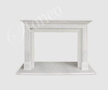Roma - kominek angielski, marmur Hunan White