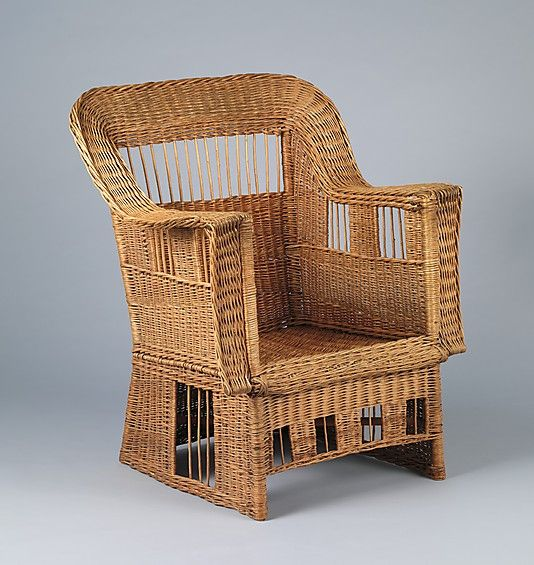 Superb Armchair   Gustav Stickley (American, Osceola, Wisconsin Syracuse, New York).  Date: Culture: American. (upholstered Cushions Not Original).