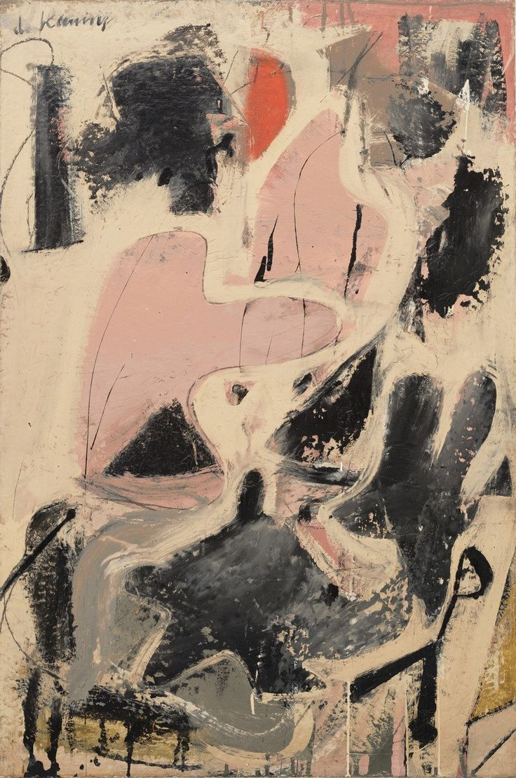 Willem de Kooning. 'Valentine', 1947. Oil and enamel on paper on board. 92.2 x 61.5 cm. This artwork is a personal favourite of mine because I love how the shapes curve into one another creating abstract figures in the painting, which create this fantasy and illusion for the viewer to experience.
