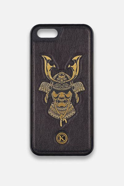 Front view of the Keyway | Samurai - Leather iPhone 5/5S Case