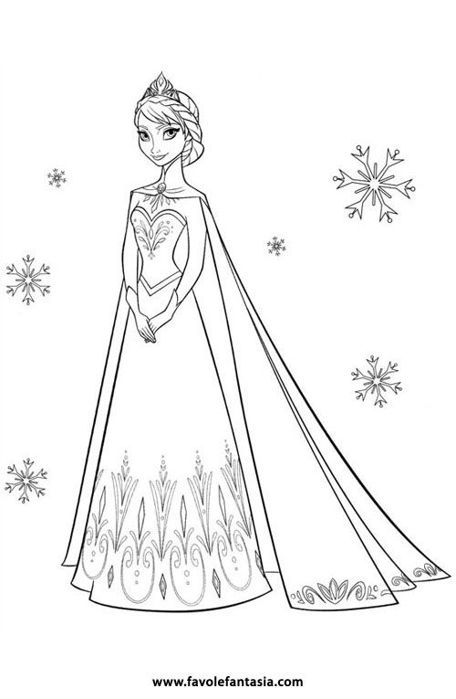 frozen coloring pages disney | Frozen da colorare | Favole e Fantasia