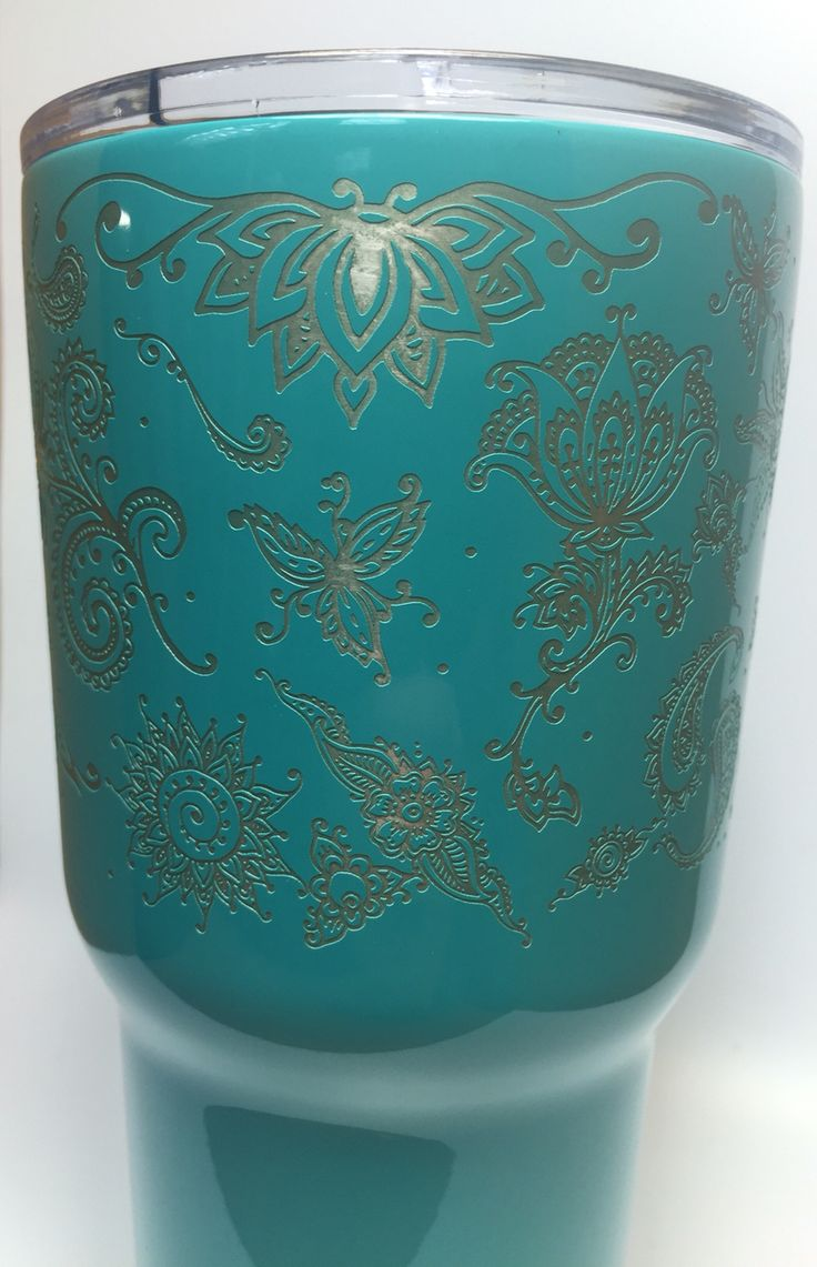 Teal Powder Coated Rtic 30 Oz Tumbler Laser Engraved In