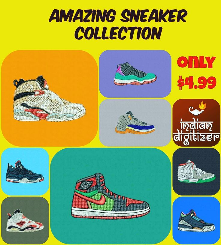 Amazing #sneaker collection just listed on #etsy for just $4.99 - a total of 8 beautiful shoes for #embroidery.  http://ift.tt/2cHk194  #sneakers #shoes #collection  #footlocker  #nike  #jordans  #air  #machineembroiderydesigns  @ez_stitcher
