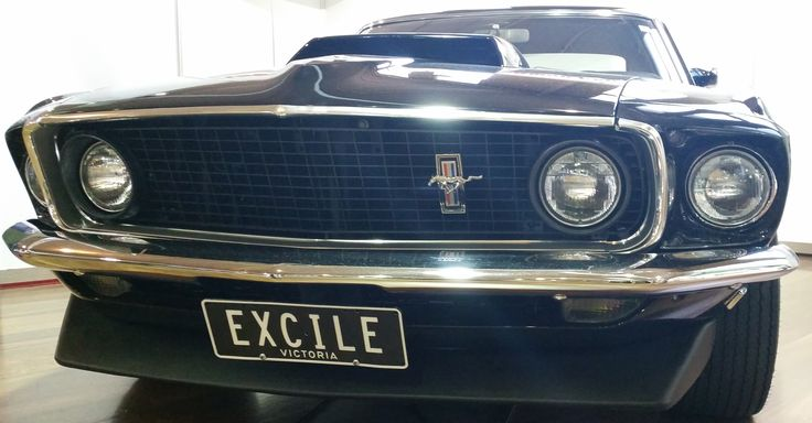 EXCILE Custom plate on display at the 2014 Motorclassica.