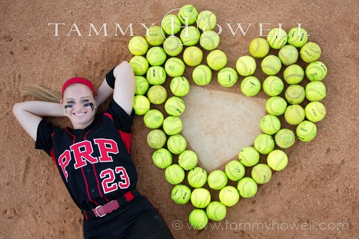Senior Picture Ideas For Girls | senior girls softball portrait photography - Google Search