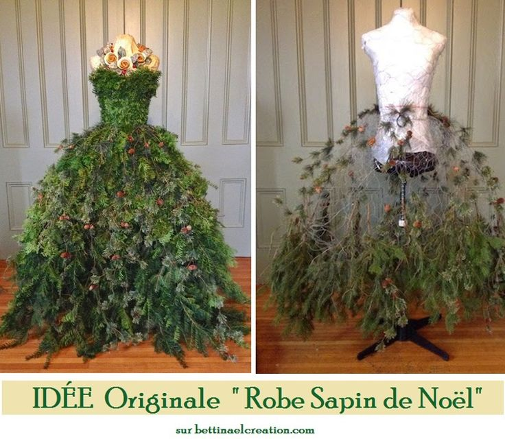 14 best christmas trees form dress images on pinterest for Mannequin de couture deco