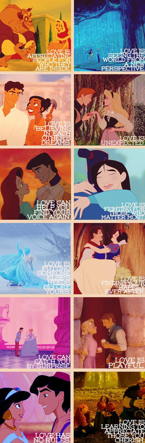 Love lessons from the Disney Princesses