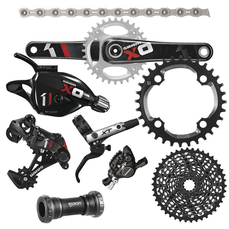 SRAM X01 Groupset with Shimano XT Brakes
