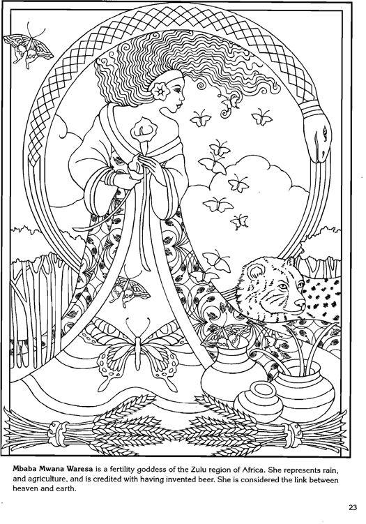 84 besten Coloring pages to print - Goddess Bilder auf Pinterest ...