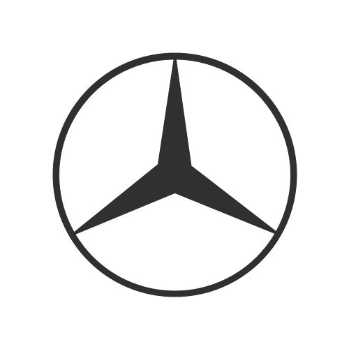 Mercedes-Benz | Designed by Gottlieb Daimler | Germany | The three-pointed star represents Daimler engines' use in cars, boats and planes (land, sea & air)