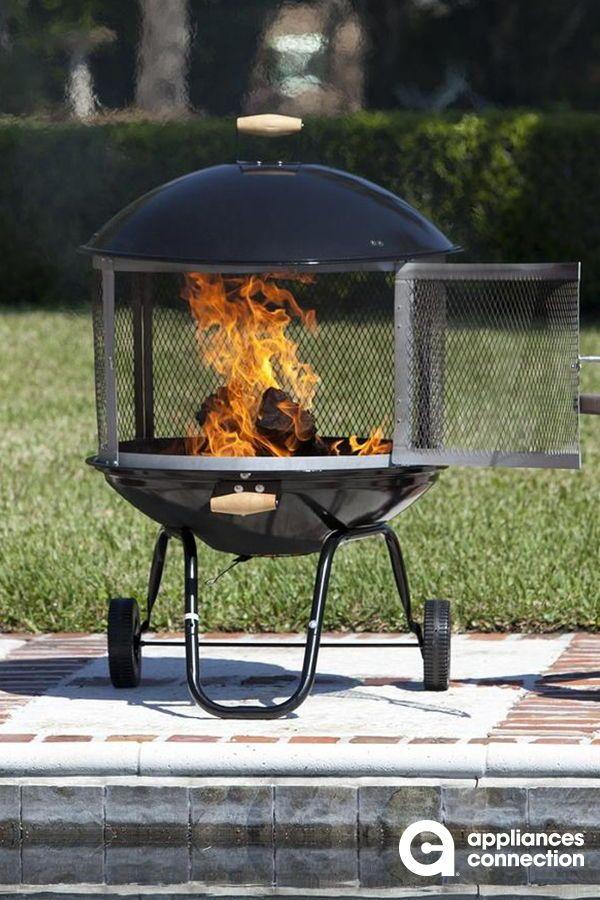 Fire Sense Patio Fireplace Wood Burning Fire Pit Portable Fire