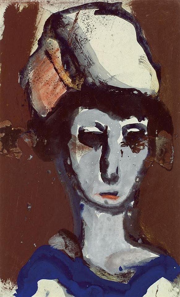 Georges Rouault (1871-1958) was een Franse expressionistische en fauvistische schilder Zijn moeder stimuleerde zijn liefde voor kunst en in 1885 ging hij in de leer bij een glasschilder. Rouault leerde ook Henri Matisse kennen. Deze vriendschap bracht hem in aanraking met het Fauvisme. Zijn scholing als glasschilder zorgde ervoor dat liefde voor middeleeuwse kunst ontstond. Deze scholing wordt ook gezien als bron voor zijn stijl van dikke zwarte contourlijnen en heldere kleuren. -1912