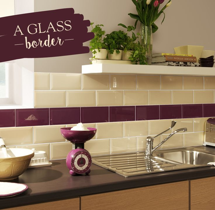 aubergine kitchen tiles to create this look we chosen our impact glass 1386