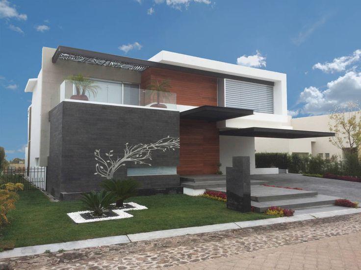 Fotos de casas de estilo moderno fachada dise os de for Fachadas de casas estilo moderno