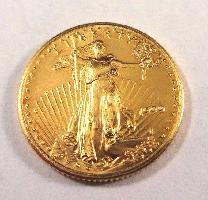 1999 1 10 Oz Fine Gold American Eagle 5 Five Dollar Coin Brilliant Uncirculated Gold American Eagle American Eagle Gold Eagle Coins