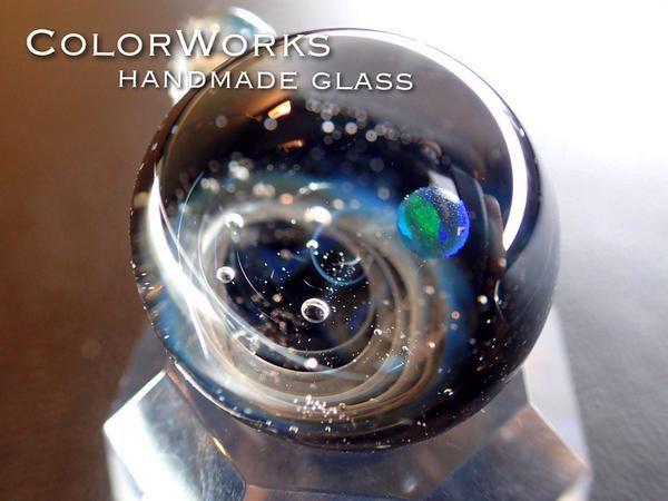 宇宙ガラスペンダント spaceglass. galaxyglass. handmade. pendant.  ColorWorks