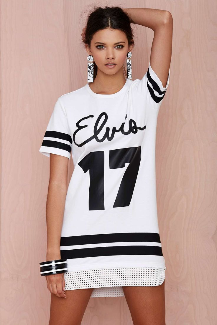Missy Skins Elvis Leather-Trim Dress