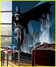 superheroes theme bedroom decorating ideas - batman bedroom - spiderman bedroom - superman bedroom - children bedroom superheroes theme decor - batman theme beds - superman murals - batman bedroom wallpaper - life size superheroes murals - lifesize stick ups superheroes bedroom design ideas - superman