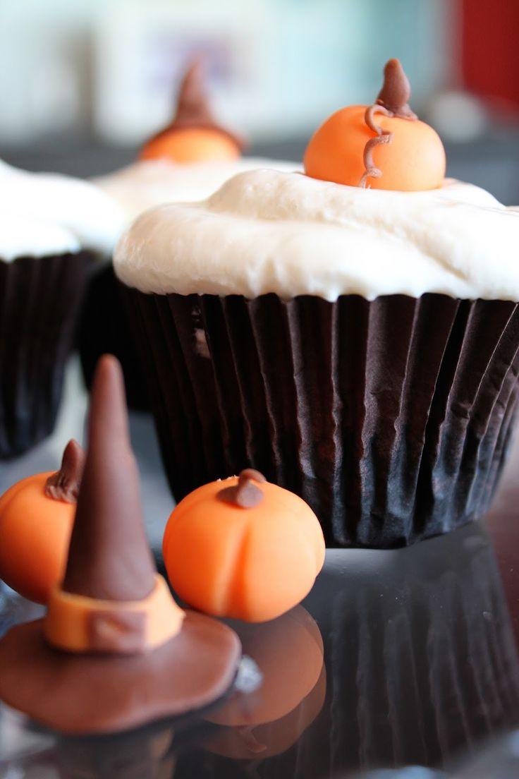 Cupcakes de calabaza y crema de queso (sin lactosa) para Halloween | Cocinar en casa es facilisimo.com