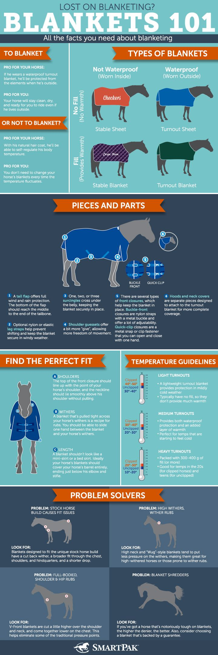 Confused about when and how to blanket your horse? Check out our handy guide!