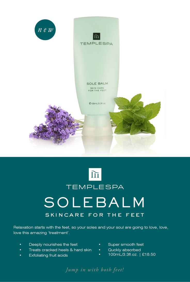 SOLE BALM Luxurious skincare for the feet £18.50 http://www.templespa.com/wow/sole-balm