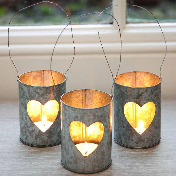 Heart Zinc Tea Light Holder