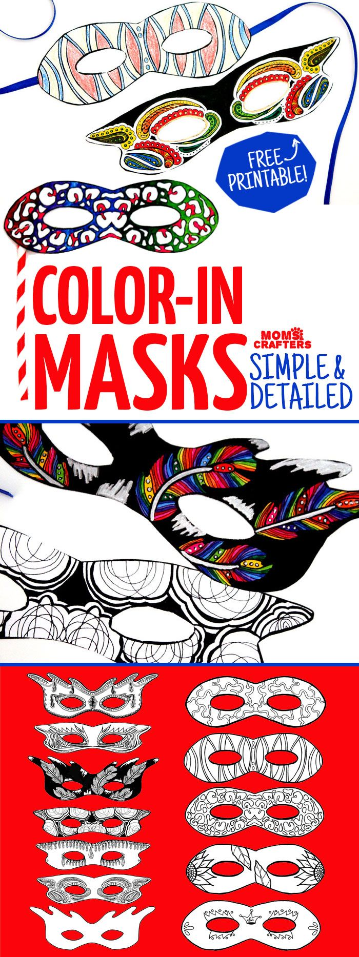 free coloring pages mardi gras : Do You Love Adult Coloring Pages But Want Something Functional Grab These Color In Masks